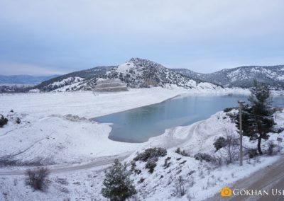 Kışın Korkuteli Barajı
