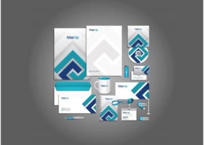 logo zarf antetli kağıt teklif dosyası örneği